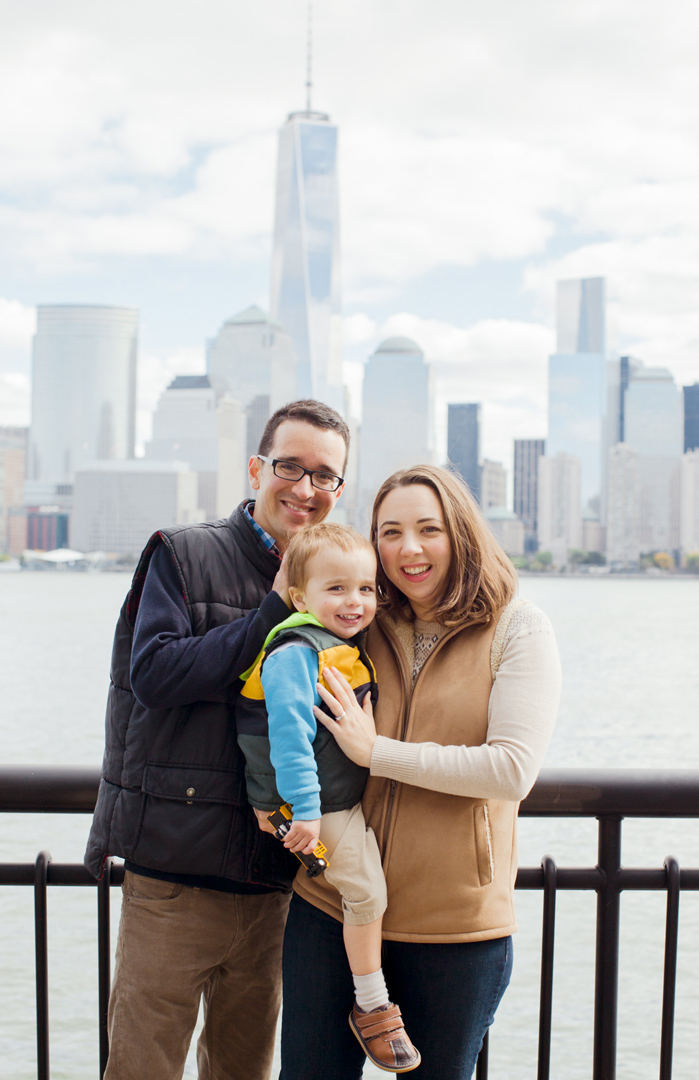 NYC skyline family portrait