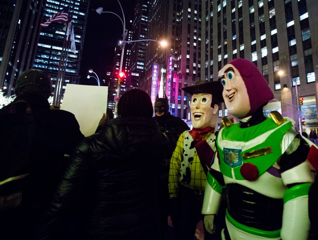 Marching by Batman and Toy Story in Radio City